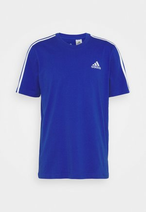 3-STRIPES SPORTS ESSENTIALS T-SHIRT - Printtipaita - bold blue/white