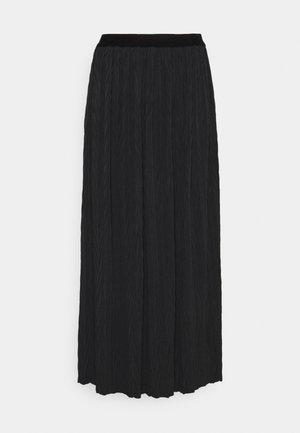 SKIRT PLISSEE - Maxi skirt - black