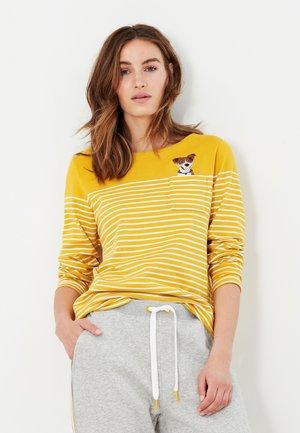 Long sleeved top - gold cremefarben streifen