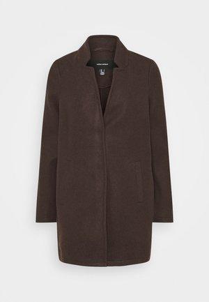 VMBRUSHEDKATRINE JACKET - Short coat - chocolate plum