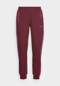 SHADOW STRIPE  COLLECTION SLIM - Tracksuit bottoms - victory crimson