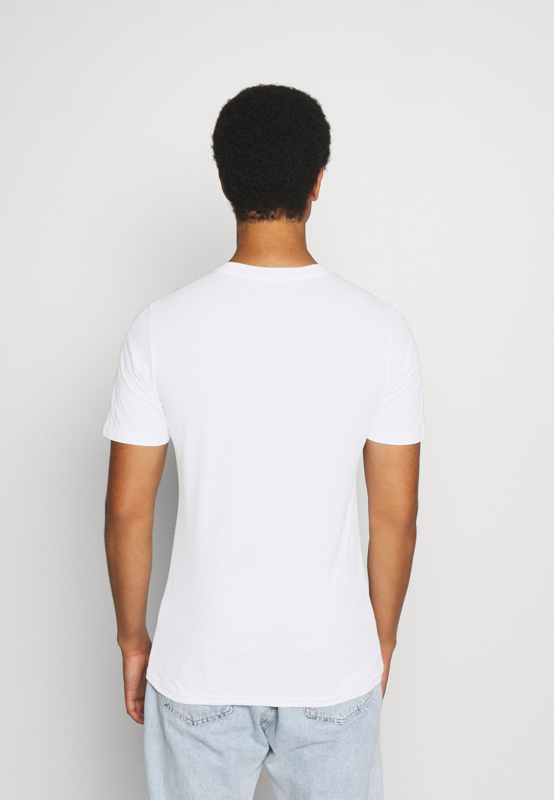 Lee TONAL FLOCK LOGO TEE - Print T-shirt - white Y80l3