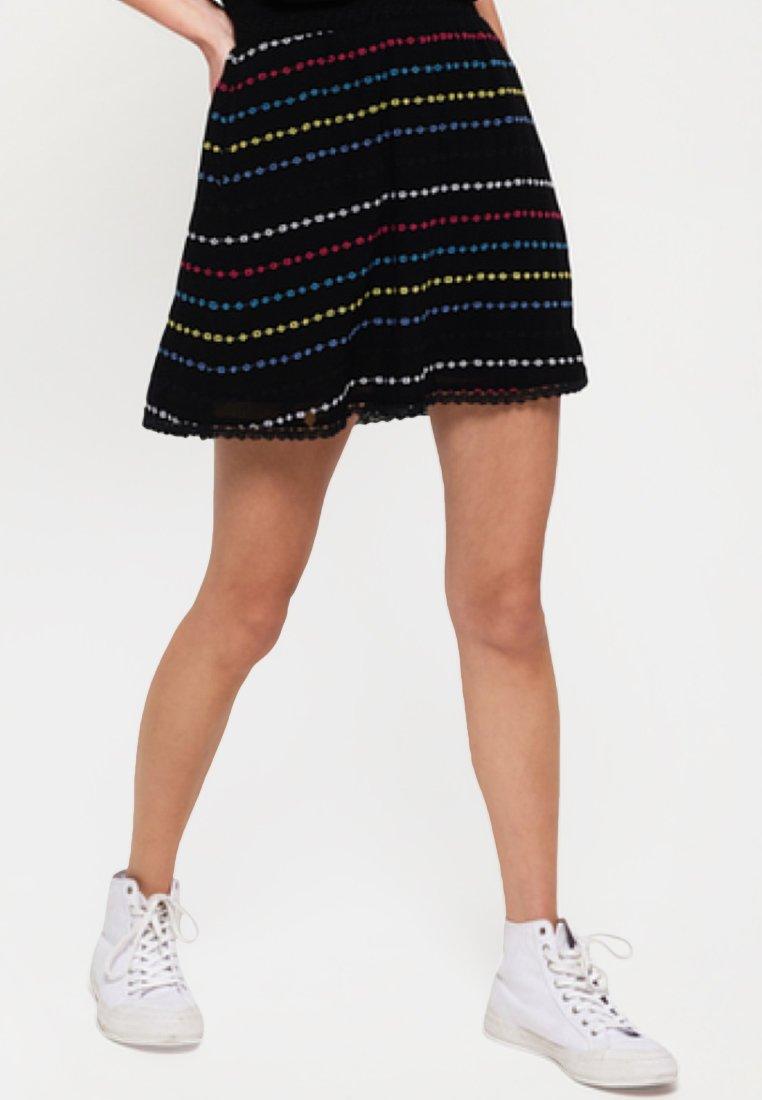 Superdry - GESMOKTER  - A-line skirt - black