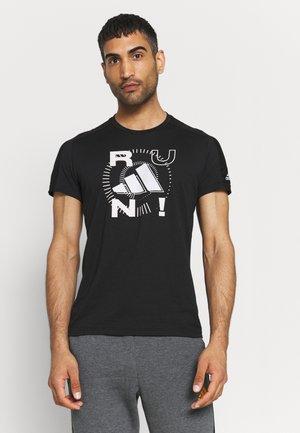 LOGO GRAPHICS AEROREADY - T-shirt med print - black