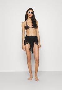 Marks & Spencer London - MINI FRILL SARONG - Beach accessory - black - 1