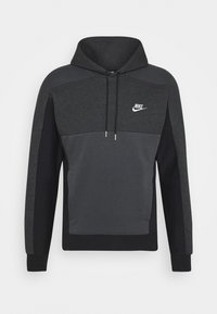 Nike Sportswear - HOODIE - Luvtröja - black heather/smoke grey/white - 3