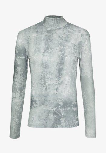 SEAMLESS HIGHNECK CONCRETE - Long sleeved top - concrete