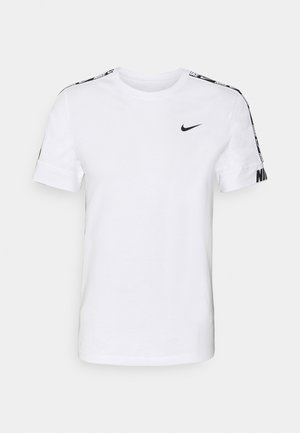 REPEAT TEE  - T-shirt z nadrukiem - white/black