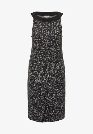 DRESS AMERICAN NECK - Vestido ligero - black offwhite dot print