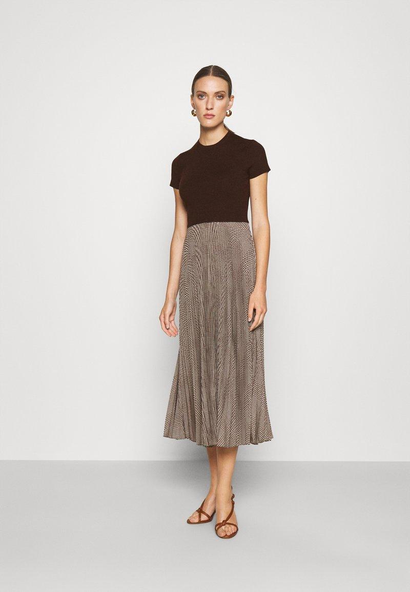 Polo Ralph Lauren - PAPA SHORT SLEEEVE DAY DRESS - Jumper dress - brown