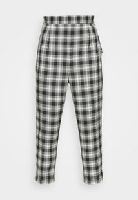 Vintage Supply - CASUAL CHECK TROUSER - Trousers - grey - 4