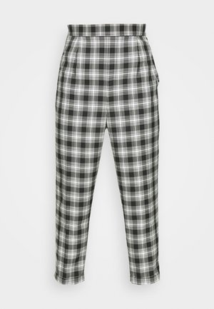 CASUAL CHECK TROUSER - Tygbyxor - grey