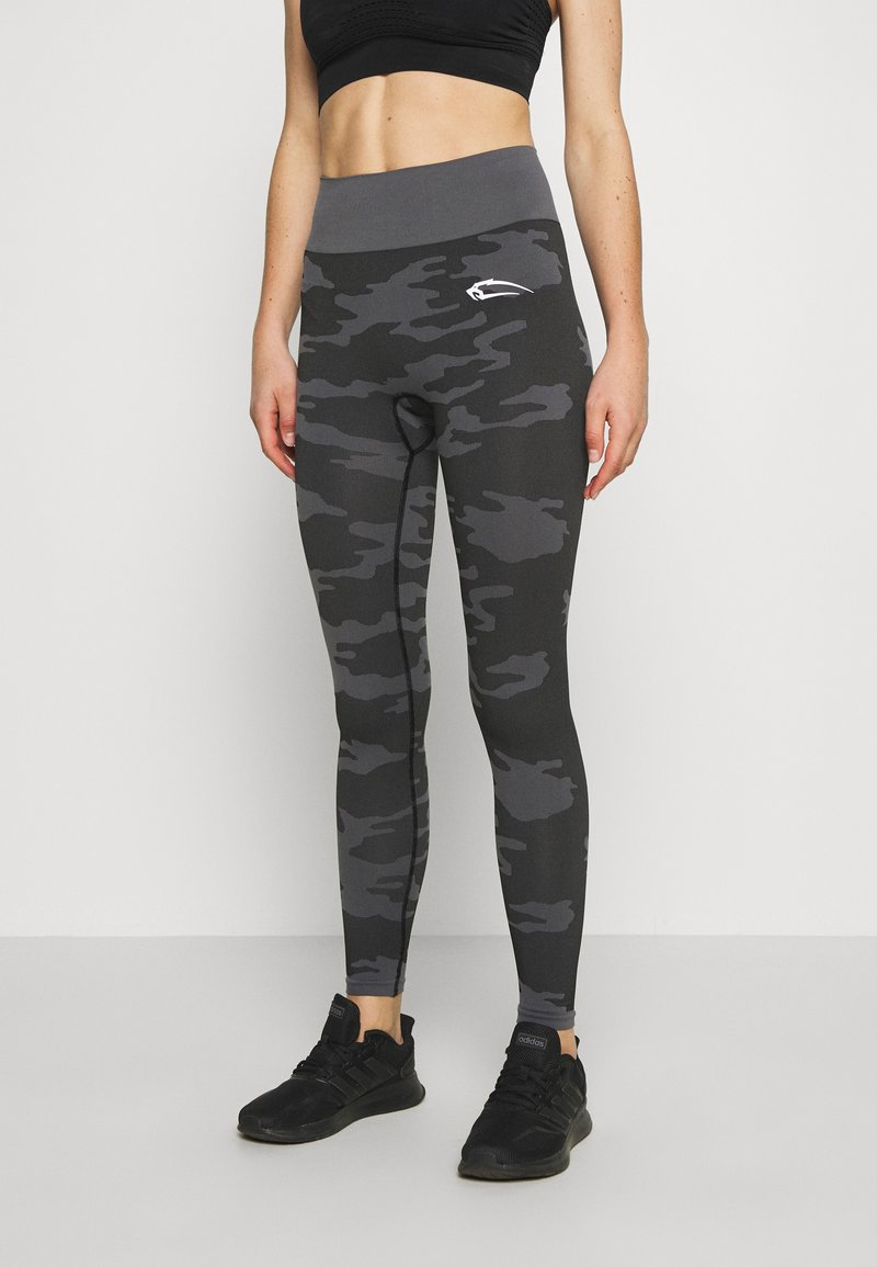 Smilodox - SEAMLESS LEGGINGS RESERVE - Leggings - black