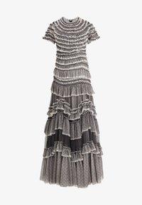 Needle & Thread - WILD ROSE RUFFLE GOWN - Společenské šaty - graphite/champagne - 4