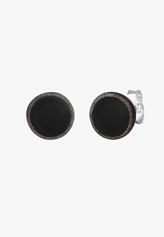 BASIC KREIS - Earrings - grau