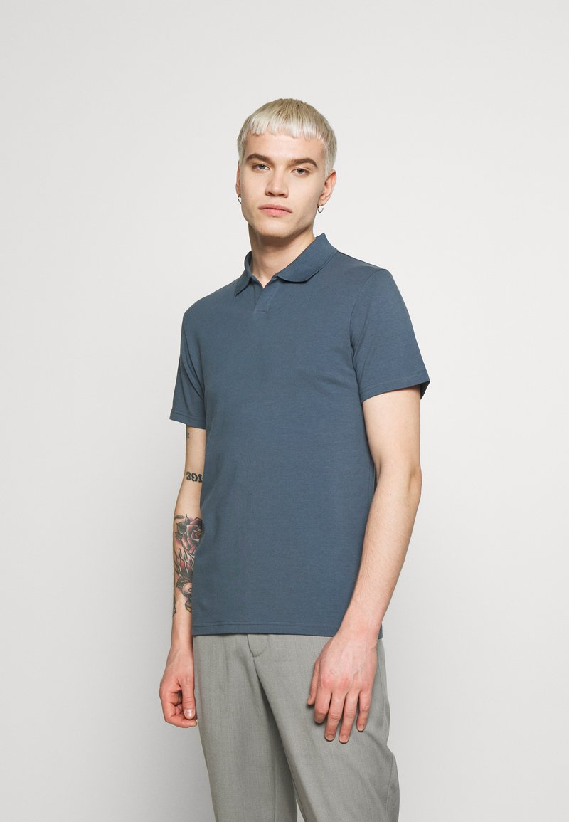 Filippa K - SOFT - Polo shirt - blue/grey