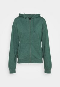 Even&Odd - BASIC - Regular fit hoodie jacket with pockets - Zip-up hoodie - mottled teal - 0