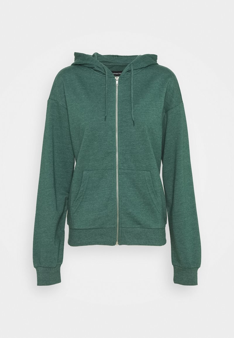 Even&Odd - BASIC - Regular fit hoodie jacket with pockets - Zip-up hoodie - mottled teal