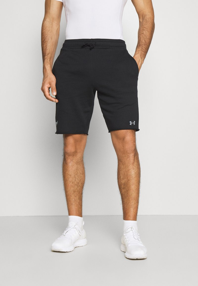 Under Armour - PROJECT ROCK TERRY SHORTS - Korte sportsbukser - black