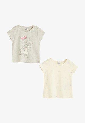 2 PACK - Print T-shirt - grey