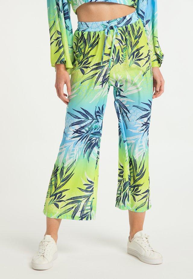 Spodnie materiałowe - tropical print