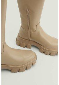 NA-KD - Platform boots - taupe - 3