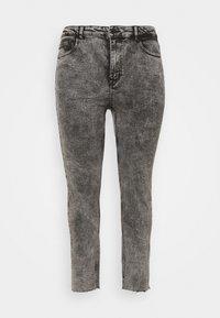 CARRICA LIFE ANKLE RAW - Straight leg jeans - black/acid