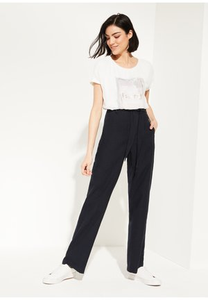 REGULAR FIT: LYOCELL-MIX - Trousers - marine
