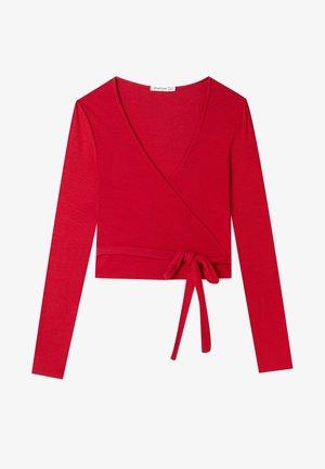 IN WICKELOPTIK - Long sleeved top - red