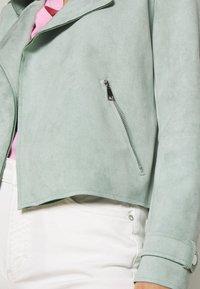 Cartoon - Faux leather jacket - granite green - 5
