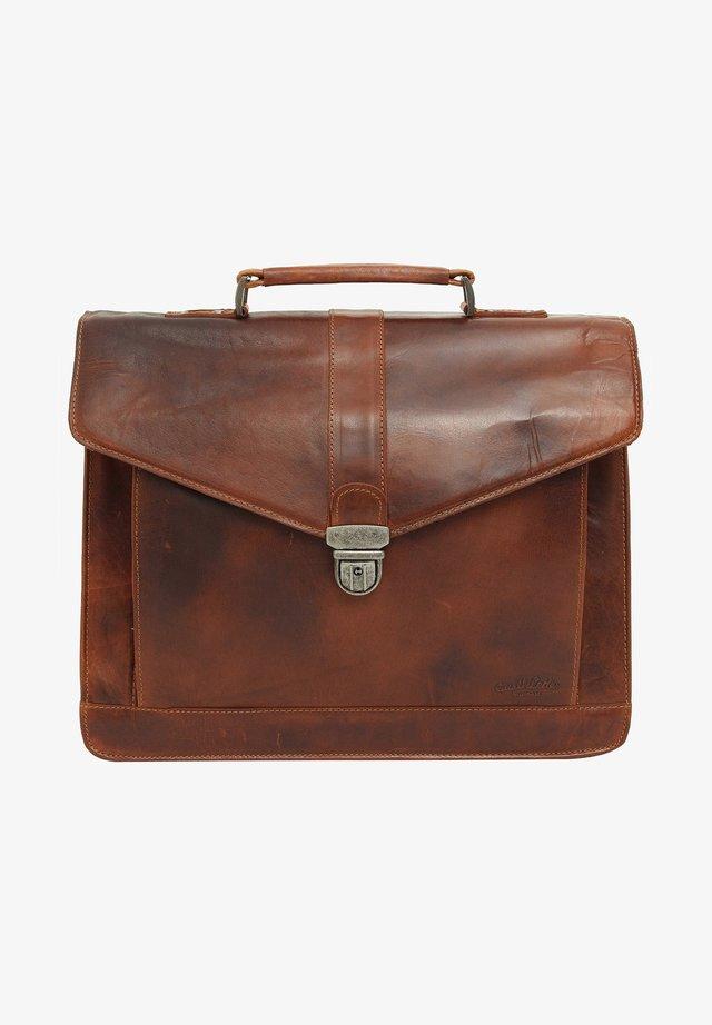 PAXTON - Briefcase - honey brown