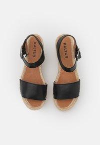 Kaltur - Sandały na platformie - black - 5