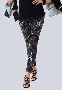 Alba Moda - Trousers - schwarz off White - 0