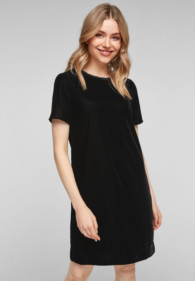 Korte jurk - black melange