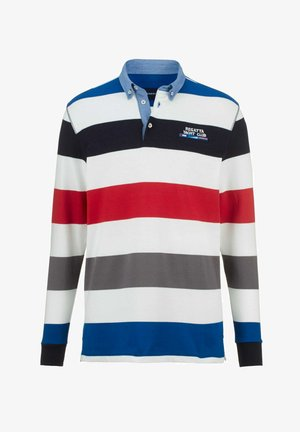 Polo shirt - weiß,blau