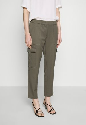 Trousers - dark olive