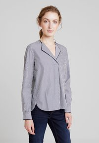 Marc O'Polo - BLOUSE CREW NECK WITH SLIT - Blouse - combo - 0