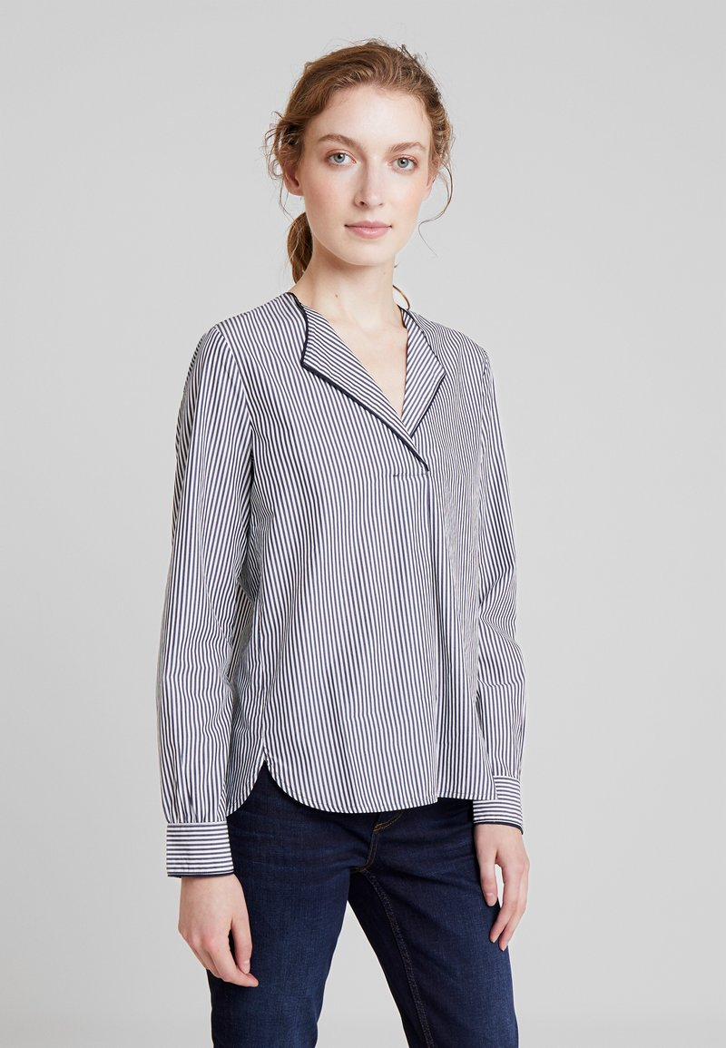 Marc O'Polo - BLOUSE CREW NECK WITH SLIT - Blouse - combo