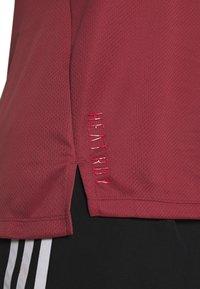 adidas Performance - HEAT.RDY TRAINING SLIM SHORT SLEEVE TEE - Print T-shirt - legend red - 6