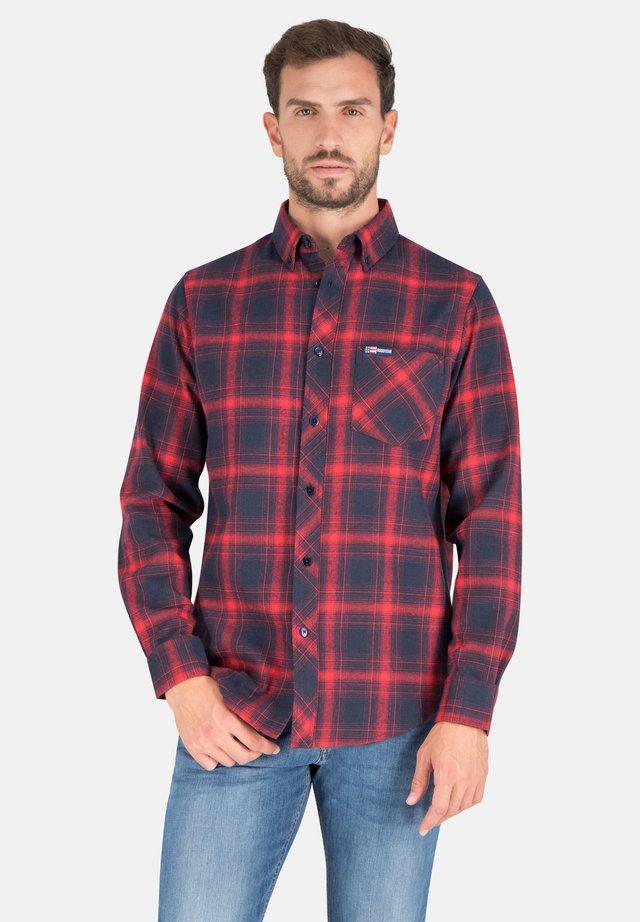 Shirt - red/navy checks
