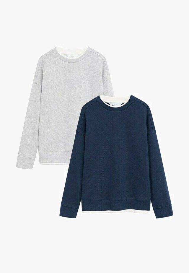 2 PACK  - Sweatshirt - bleu marine foncé