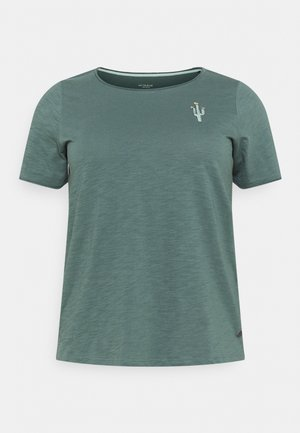 FRONT ARTWORK - Print T-shirt - washed jasper green