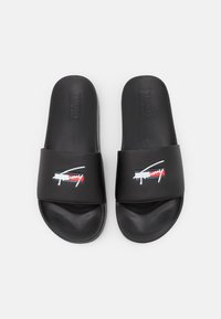 Tommy Jeans - SIGNATURE MENS POOL SLIDE - Matalakantaiset pistokkaat - black - 3