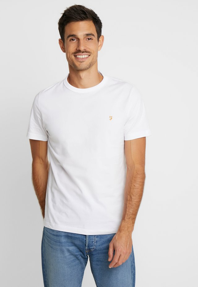 DENNIS SOLID TEE - Printtipaita - white