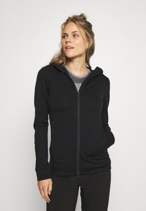 QUANTUM - Zip-up hoodie - black