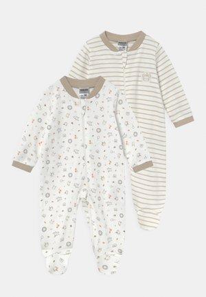 2 PACK UNISEX - Sleep suit - off-white