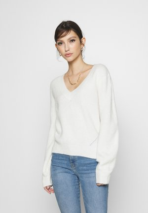 BALLOON SLEEVE - Pullover - white