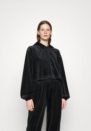 FRANCES CROPPED HOODIE - Sweatshirt - black