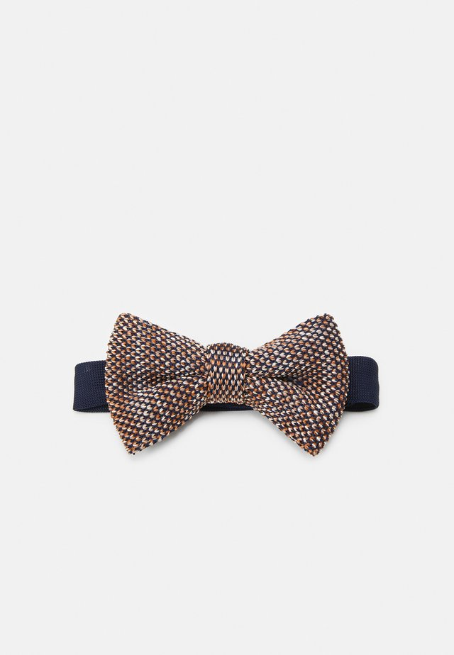 DEMOS BOWTIE - Vlinderdas - navy/brown
