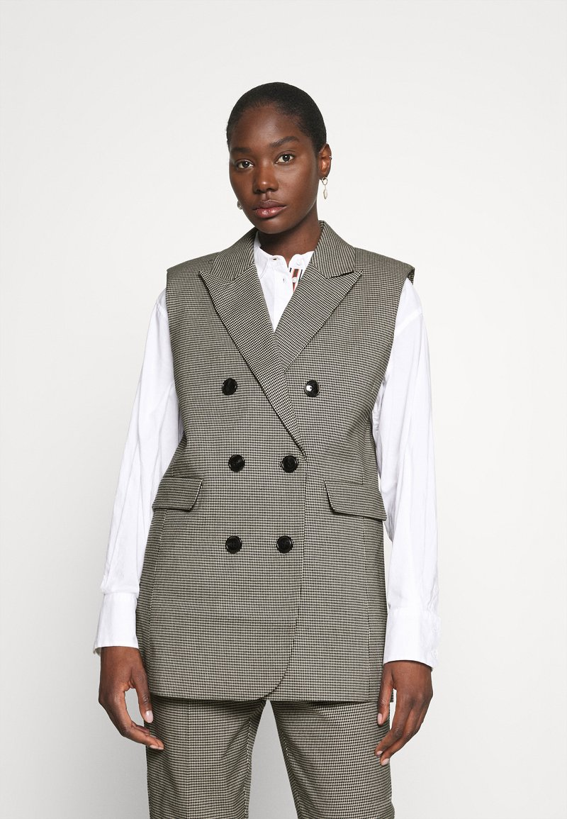 Custommade - MAISY - Waistcoat - anthracite black